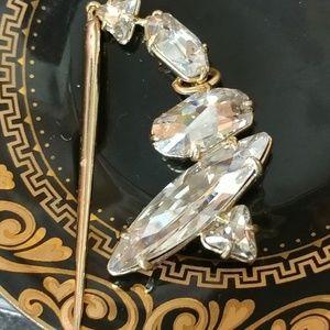 ALEXIS BITTAR Large Brass & Crystal Pendant